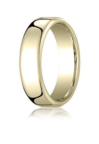 10K Yellow Gold, 6.5mm European Comfort-Fit Ring (sz 5.5)