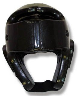 Martial Arts Dipped Foam Head Guard - Black ( Single Layer ) - Medium