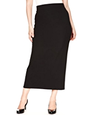 Plus Flared Hem Long Skirt