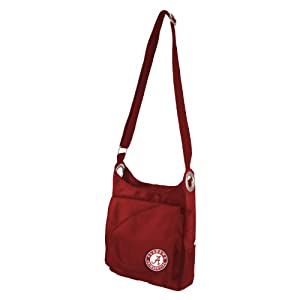 NCAA Alabama Crimson Tide Ladies Color Sheen Cross Body Purse, Red by Littlearth