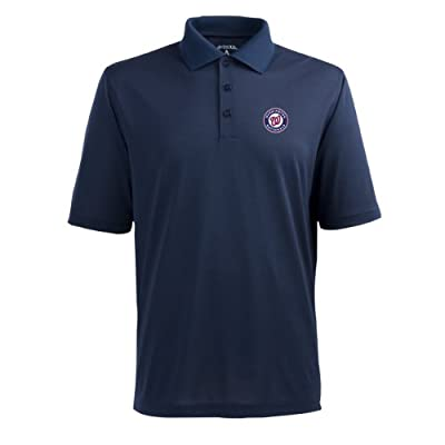 MLB Men's Washington Nationals Pique Xtra Lite Desert Dry Polo