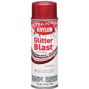 Krylon K03806 Glitter Blast, Cherry Bomb