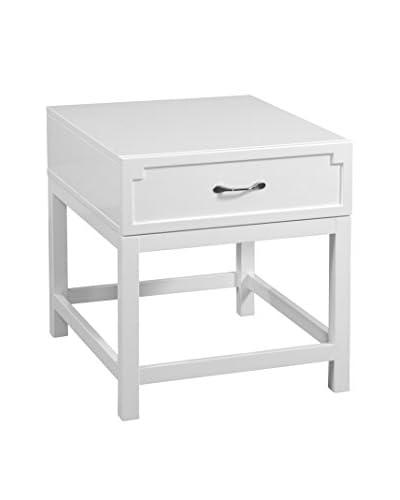Bassett Mirror Company Zoe Rectangular End Table, White