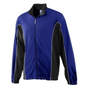 Medium Royal and Black Youth Wicking//Antimicrobial Gameday Crew