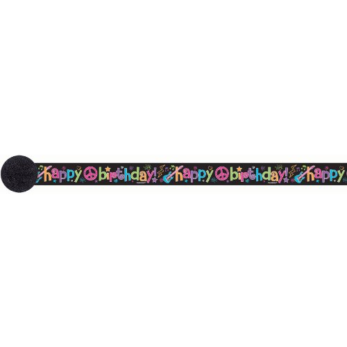 Neon Birthday Crepe Streamer