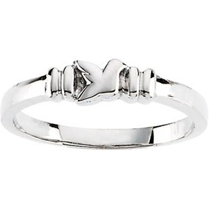 Genuine IceCarats Designer Jewelry Gift Sterling Silver Holy Spirit Ring. Holy Spirit Ring In Sterling Silver Size 8