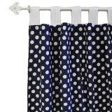 New Arrivals Curtain Panels, Zig Zag in Navy