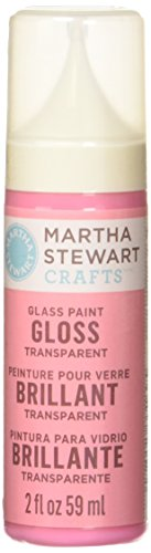 Martha Stewart Crafts Gloss Transparent Glass Paint in Assorted Colors (2-Ounce), 33169 Pink Hyacinth (Martha Stewart Glass Paint compare prices)