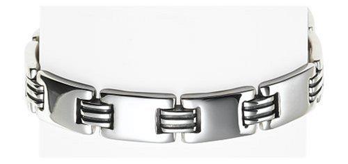Zina Sterling Silver Men's Link Bracelet, 8.5
