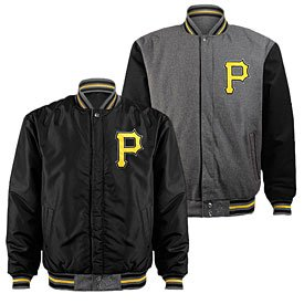 Pittsburgh Pirates Two-Toned Reversible Wool Jacket by The Pittsburgh Fan