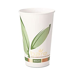 SOLO Cup Company Products - SOLO Cup Company - Bare PCF Paper Hot Cups, 20 oz., 600/Carton - Sold As 1 Carton - The first-ever FDA approved PCF paper cups. - Made with 10% post-consumer recycled fiber. - For hot beverages. - Made from a minimum of 92% renewable resources. - Features environmental BareTM design.