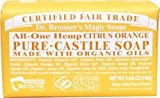 Dr. Bronner's Organic Pure Castile Citrus Orange Soap, 5 oz - 2 Bars Kids, Infant, Child, Baby Products