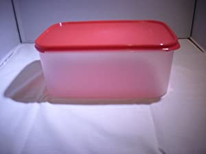 Tupperware Modular Mates Rectangular 2 Container in Red Passion