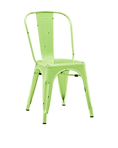 Walker Edison Kid's Metal Café Chair, Green