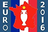 Kit 24 DRAPEAUX EURO 2016 DE FOOTBALL 150x90 cm - DRAPEAU CHAMPIONNAT D'EUROPE DE FOOTBALL 90 x 150 cm - AZ FLAG...