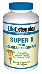 Life Extension Super K with Advanced K2 Complex 90 softgels ( Multi-Pack)