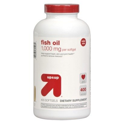 Up & Up Fish Oil 1,000 Mg For Heart, Skin & Joint Health, 400 Softgels