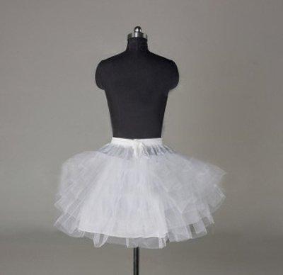 Sunvary Nylon A-line Half 3 Tier Short White Slip Wedding Petticoats