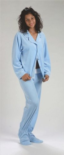 8e4a16e51f43 4 Low Price Footzies Baby Blue Two-Piece Footed Pajamas for Women ...