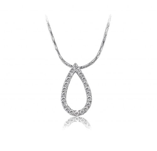 Lifestyle Infinity Silver Brass Rhodium Plated Pendant For Women (INF - P204021R )