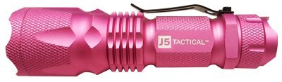 J5 Tactical V1 Pro Pink Tactical Flashlight - The Original 300 lm Ultra Bright, LED 3 Mode Flashlight, Pink by J5 Tactical