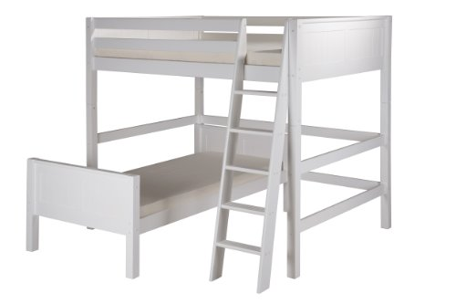 White Wooden Bunk Beds 3966 front