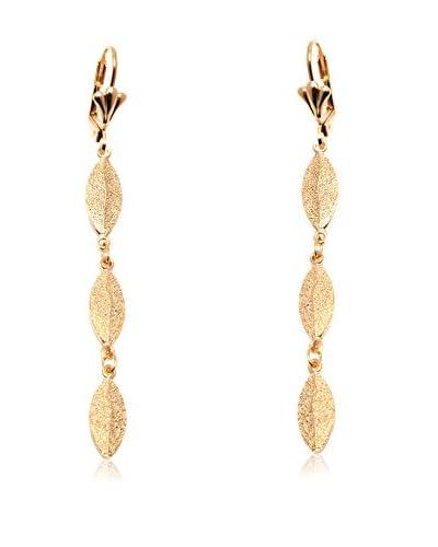 Sevil 18K Gold-Plated Triple Leaf Drop Earrings