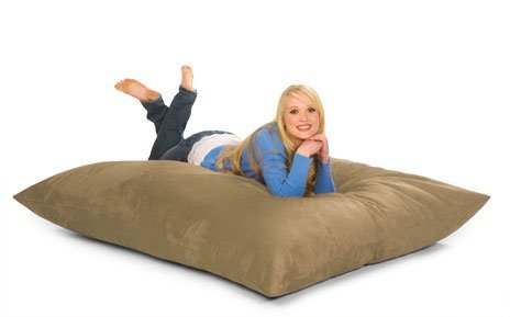 6' Relax Pillow Sack-Microsuede Camel front-438809