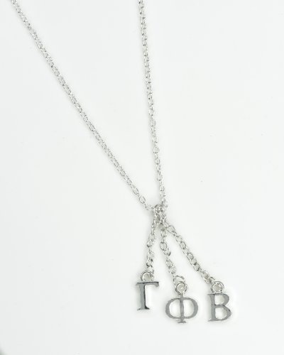 Gamma Phi Beta Sorority Silver Dangle Necklace