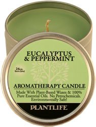 Best Cheap Deal for Eucalyptus & Peppermint Aromatherapy Candle- Made with 100% pure essential oils - 3oz tin by Plantlife - Free 2 Day Shipping Available