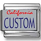 California License Plate Custom Italian Charm