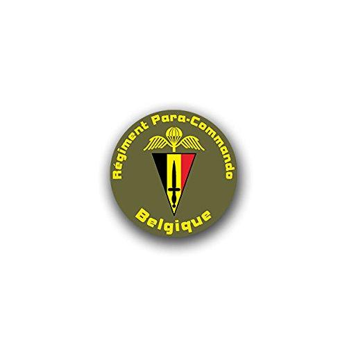 Aufkleber / Sticker - Para-Commando Brigade Belgische Fallschirmjäger Heer Einheit Fallschirm Schwingen Flügel Wappen Abzeichen Emblem passend für VW Golf Polo GTI BMW 3er Mercedes Audi Opel Ford (7x7cm)#A1599