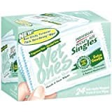 Wet Ones Singles Sensitive Skin Hand and Face Moist Wipes