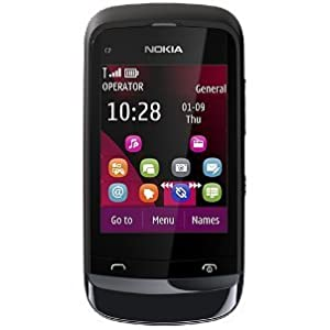 Nokia C2-02 (Chrome Black)