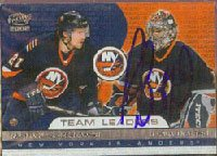 Rick DiPietro, New York Islanders, 2002 Pacific Team Leaders Autographed Card