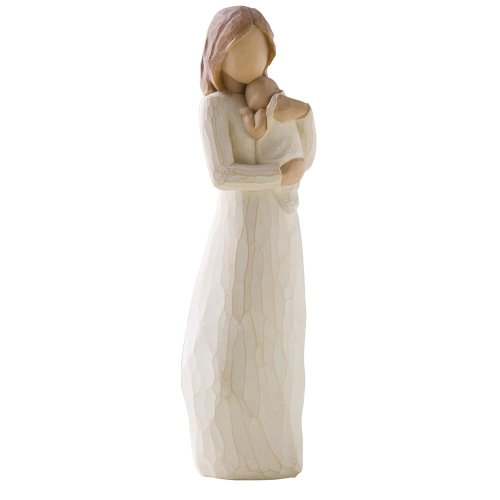 Angel of mine-so loved, so very loved. willow tree is an intimate, personal line of figurative sculptures representing qualities and sentiments that help us feel close to others, heal wounds or treasure relationships. Susan lordi carves each original piece with this thought in mind. her figures continue to evolve as she identifies emotions so important for us to convey and renders them in simple, pure gestures. these art forms beautifully express love, closeness, healing, courage, hope all the emotions of a life well lived.