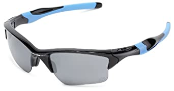 Oakley Mens Half Jacket 2.0 XL  OO9154-01 Iridium  Sunglasses,Polished Black Frame/Black Iridium Lens,one size