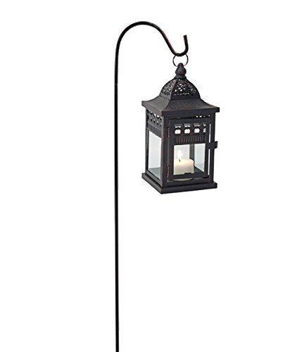Lanterne avec Bar de lanterne, Photophore pour Bougie ou photophore + Bâton