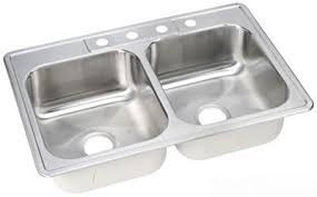 Elkay DSE23319X Dayton Elite Stainless Steel Double Bowl Top Mount Sink 33 X 19 X 8 In.