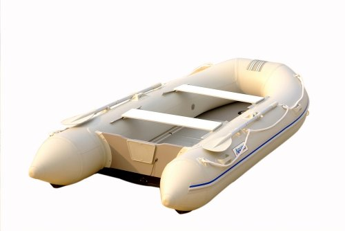 Image of Aquos 0.9mm PVC 12.5 Feet Inflatable Boat Tender Yacht Dinghy - Gray - (DIC380AG09W)