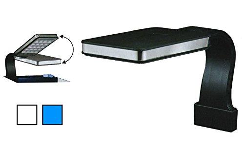 Hopar Led Lighting LED-300 - Mini plafoniera a braccio per acquario con luci bianche e blu