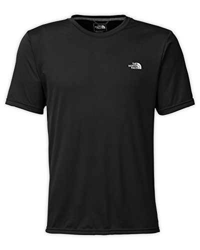 The North Face Mens Short-Sleeve Reaxion AMP Crew TNF Black/TNF White Medium