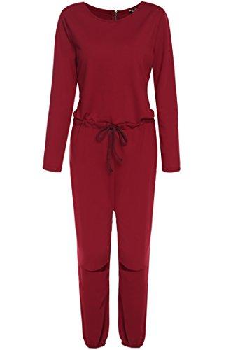 zeagoo damen casual jumpsuit sportlich hosenanzug overall. Black Bedroom Furniture Sets. Home Design Ideas