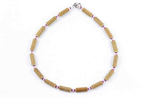 Healing Hazel Hazelwood Baby Necklace, Tender Pink/Plum - 1