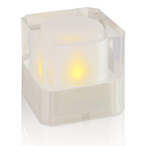 LED Kerzen mit echtem Geflacker Warmweiß, flammenlose Votive Weihnachtskerzen Lichterkette für Weihnachtsdeko, Geburtstags, Birthday Party, Bar, Weddings, Hochzeit