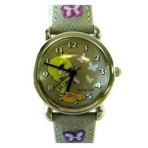 Armitron Looney Tunes Tweety Bird Watch With Butterflies