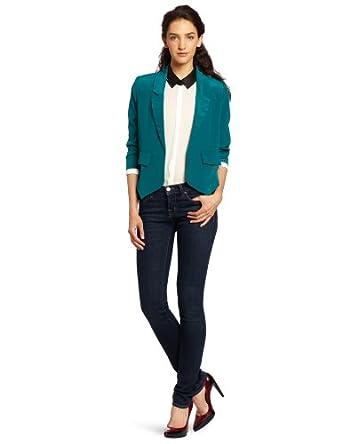 aryn K Women's Tuxedo Blazer, Green, X-Small