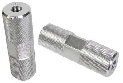 Black Ops Knurled Pro 3/8 BMX Axle Pegs, Double Sided, Black