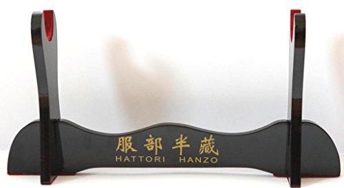 Samuraischwert ständer katana ständer Hochglanz mit Hattori Hanzo Schriftzeichen