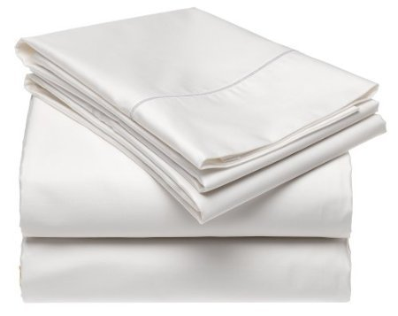 Solid White 300 Thread Count Twin Extra Long Size Sheet Set 100 % Egyptian Cotton 3Pc Bed Sheet Set (Deep Pocket)Twin Xl By Sheetsnthings